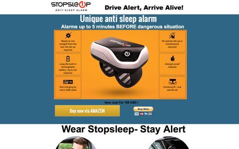Screenshot of Landing Page pagewiz.net - stopsleep anti sleep alarm - captured Nov. 19, 2016