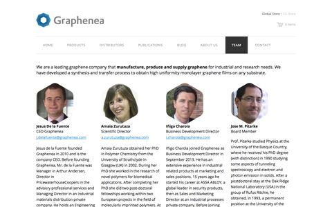 Screenshot of Team Page graphenea.com - Team – Graphenea - captured Sept. 16, 2014