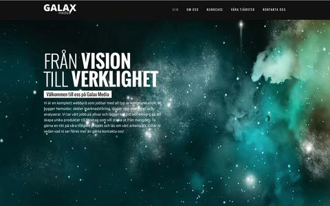 Screenshot of Home Page galaxmedia.se - Galax Media - Snygga och moderna hemsidor - WebbyrΠi Stockholm - captured Dec. 7, 2015