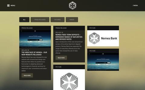 Screenshot of Press Page nemeabank.com - Nemea Bank - Media - captured Oct. 9, 2014