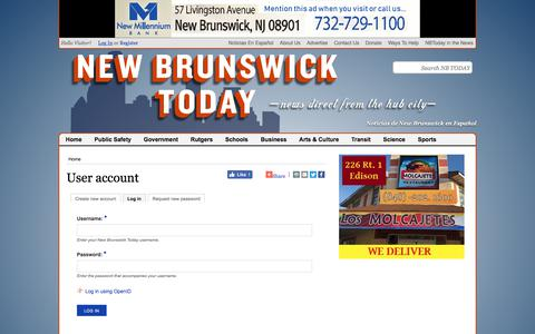 Screenshot of Login Page newbrunswicktoday.com - User account | New Brunswick Today - captured Sept. 21, 2018