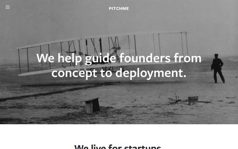 Screenshot of Team Page pitchme.io - Our Team — Pitchme - captured Jan. 27, 2016