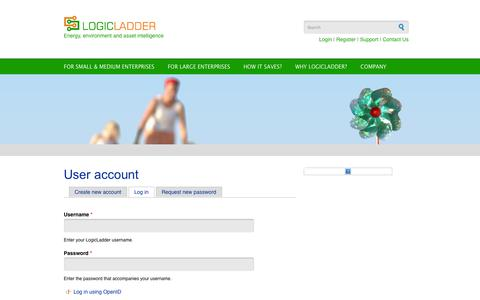 Screenshot of Login Page logicladder.com - User account | LogicLadder - captured Sept. 16, 2014