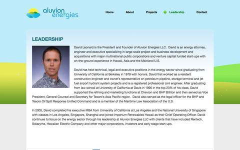 Screenshot of Team Page aluvionenergies.com - Leadership | Aluvion Energies - captured July 25, 2016