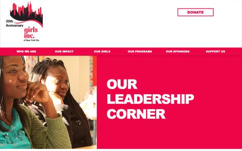 Screenshot of Blog girlsincnyc.org - girlsincnyc   Leadership Corner - captured Sept. 28, 2018