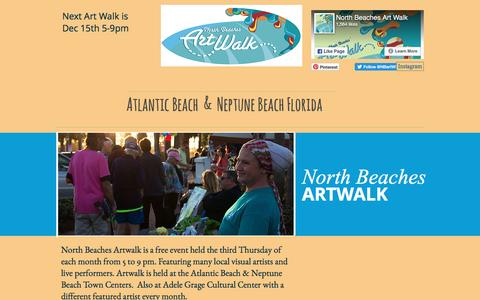 Screenshot of About Page nbaw.org - North Beaches Art Walk | ABOUT - captured Nov. 30, 2016