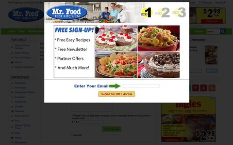 Screenshot of Contact Page mrfood.com - Mr. Food OOH IT'S SO GOOD!! - captured Aug. 21, 2016