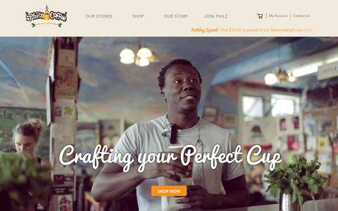 Screenshot of Home Page philzcoffee.com - Welcome to the store - captured Dec. 17, 2015