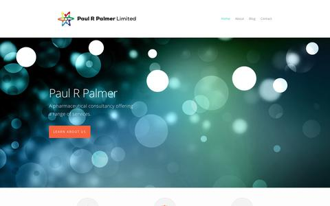 Screenshot of Home Page paulrpalmer.com - A pharmaceutical consultancy offering a range of services. - captured July 17, 2017