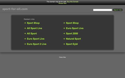 Screenshot of Home Page sport-for-all.com - Sport-For-All.com - captured April 7, 2017