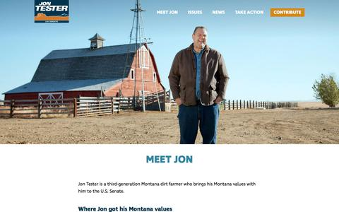 Screenshot of About Page jontester.com - Meet Jon - captured July 2, 2018