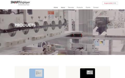 Screenshot of Products Page smartdisplayer.com - SmartDisplayer | Products - captured Nov. 17, 2018