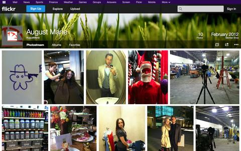Screenshot of Flickr Page flickr.com - Flickr: AugustMane's Photostream - captured Oct. 23, 2014