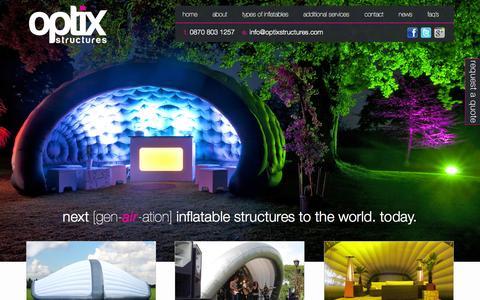 Screenshot of Site Map Page optixstructures.com - Sitemap | Inflatable Buildings, Structures, Marquees, Tents - Optix - captured Oct. 9, 2014