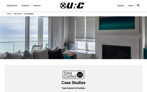 Screenshot of Case Studies Page universalremote.com - Case Studies | URC - captured Nov. 14, 2018
