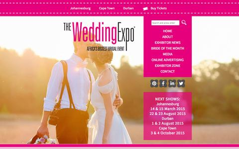 Screenshot of Home Page wedding-expo.co.za - Wedding Planning Professionals | The Wedding Expo - captured Jan. 26, 2015