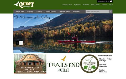 Screenshot of Home Page questoutdoors.com - Quest Outdoors - Home Page - captured July 4, 2018