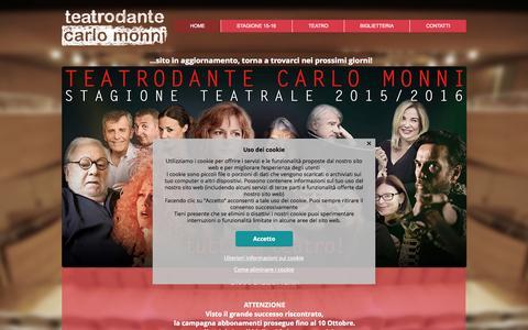 Screenshot of Home Page teatrodante.it - teatrodante Carlo Monni | Campi Bisenzio - captured Oct. 13, 2015