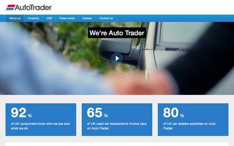 Screenshot of About Page autotrader.co.uk - about-usAbout us - about-us - captured Dec. 2, 2015