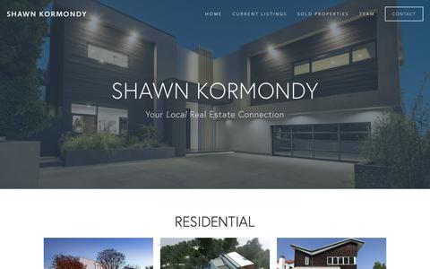 Screenshot of Home Page shawnkormondy.com - Shawn Kormondy Beverly Hills | Hollywood Hills | West Hollywood | Miracle Mile | Beverly Grove | Homes and Real Estate | Keller Williams Realty - captured Oct. 6, 2018