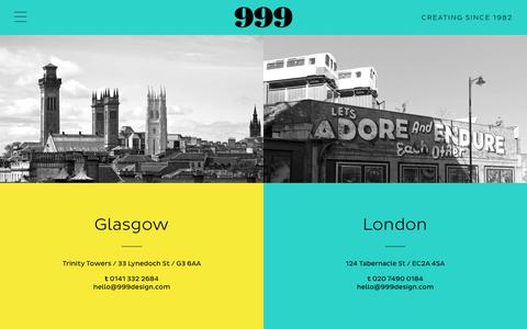 Screenshot of Contact Page 999design.com - Contact 999 Creative Design and Branding Agency - captured Aug. 17, 2016