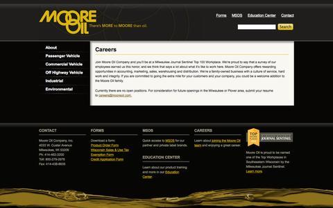 Screenshot of Jobs Page mooreoil.com - Careers | Moore Oil - captured Oct. 26, 2014