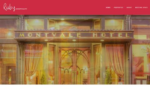 Screenshot of Home Page rubyhospitality.com - Ruby Hospitality - captured Oct. 20, 2018