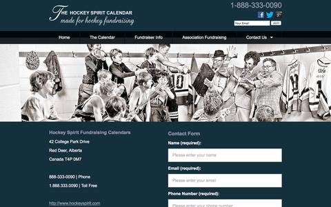 Screenshot of Hours Page hockeyspirit.com - Heart Warming Hockey Fundraising Calendars. - captured Jan. 30, 2016