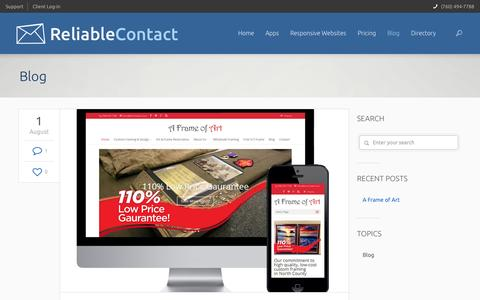 Screenshot of Blog reliablecontact.com - Blog | Reliable Contact - captured Oct. 7, 2014