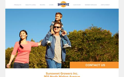Screenshot of Contact Page sunsweet.com - Contact Sunsweet® Growers - captured Dec. 24, 2016