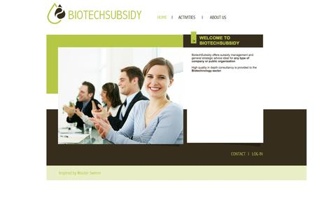 Screenshot of Home Page biotechsubsidy.com - BiotechSubsidy - captured Sept. 30, 2014