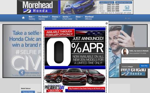 Screenshot of Home Page moreheadhonda.com - Morehead Honda | New Honda dealership in Newburgh, NY 12550 - captured Feb. 28, 2016