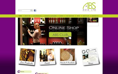 Screenshot of Home Page absasia.com.hk - ABS Asia - Home - captured Oct. 4, 2014