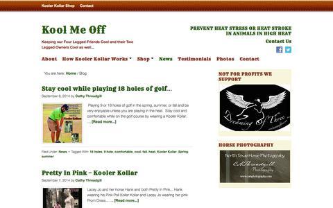 Screenshot of Press Page koolmeoff.com - Blog - Kool Me Off - captured Oct. 6, 2014
