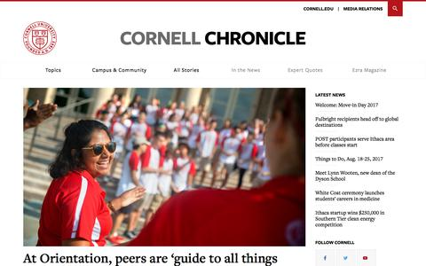 Home | Cornell Chronicle