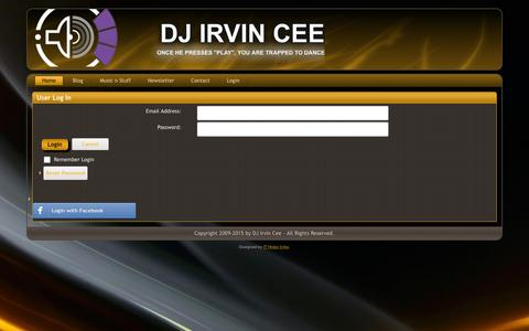 Screenshot of Login Page irvincee.com - User Log In - captured Feb. 8, 2016