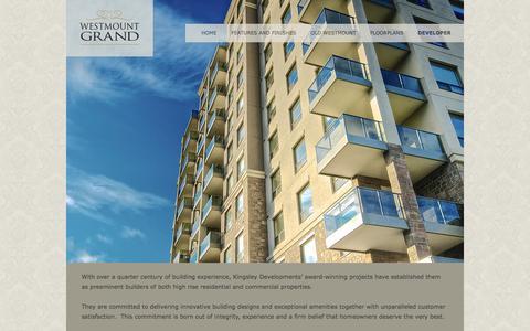 Screenshot of Developers Page westmountgrand.com - Developer, Builder, Designer | Westmount Grand - captured Oct. 9, 2014