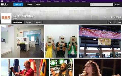 Screenshot of Flickr Page flickr.com - Flickr: BBR Creative's Photostream - captured Oct. 25, 2014