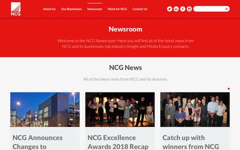 Screenshot of Press Page ncgrp.co.uk - Latest News | NCG - captured Oct. 20, 2018