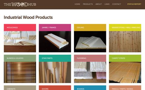 Screenshot of Products Page thewoodhub.net - The Wood Hub | Industrial Wood Products - captured Feb. 12, 2016