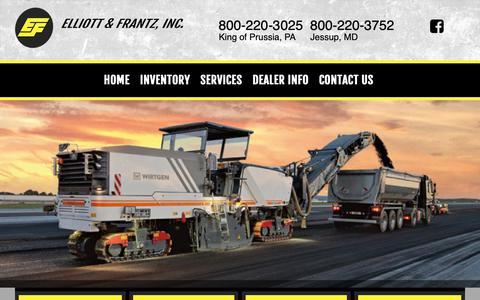 Screenshot of Home Page elliottfrantz.com - Elliott & Frantz, Inc. - captured Sept. 28, 2018