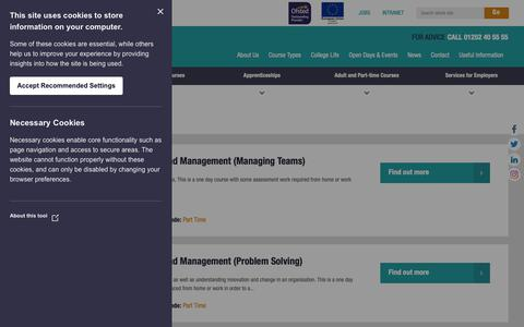 Screenshot of Team Page farn-ct.ac.uk - Sector - Farnborough College of Technology - captured Oct. 10, 2018