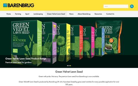 Screenshot of barenbrug.co.uk - Barenbrug UK | Lawn & Landscaping Grass Seed - captured Oct. 22, 2018
