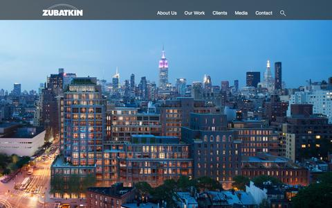 Screenshot of Home Page zubatkin.com - Home - Zubatkin Owner Representation, LLC - captured Feb. 13, 2016