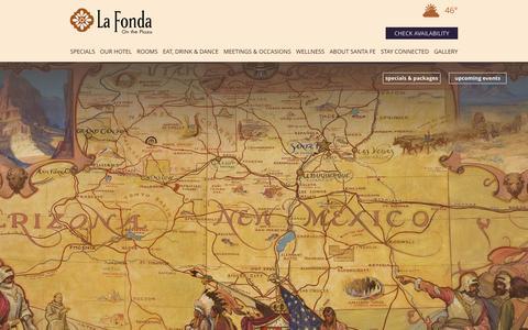 Screenshot of Maps & Directions Page lafondasantafe.com - Santa Fe Hotel   La Fonda On The Plaza - captured Jan. 23, 2016