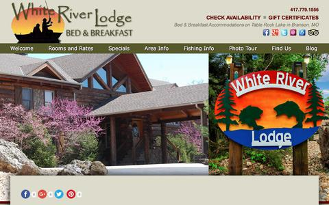 Screenshot of Contact Page Maps & Directions Page whiteriverlodgebb.com - Vacation at Our Bed and Breakfast on Table Rock Lake - captured July 3, 2018
