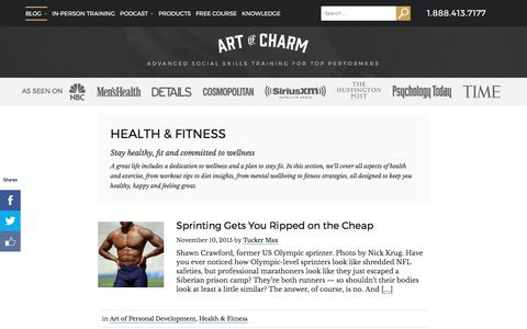 Health & Fitness Archives • The Art of Charm