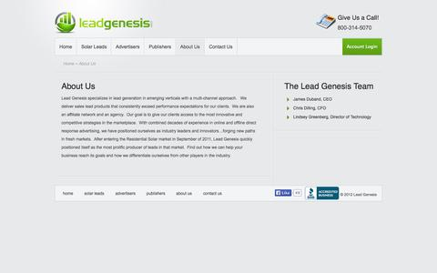 About Us | Lead Genesis
