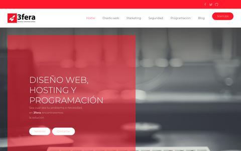 Screenshot of Home Page 3fera.com - Diseño web, hosting, programación y seguridad - 3fera - captured Nov. 17, 2018