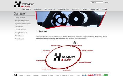 Screenshot of Services Page hexagonstudio.com.tr - Services - Services - captured Oct. 6, 2014